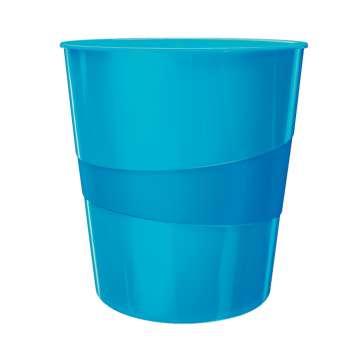 Odpadkový koš LEITZ WOW - plastový, modrý, objem 15 l