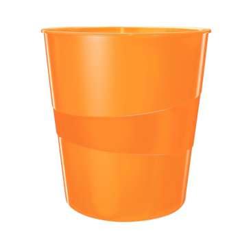 Odpadkový koš LEITZ WOW - plastový, oranžový, objem 15 l