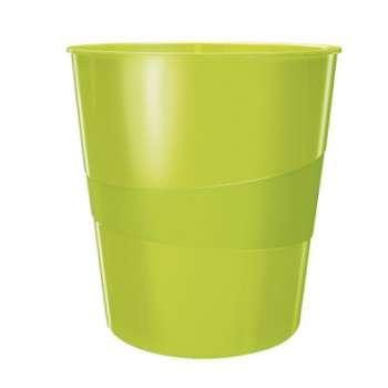Odpadkový koš LEITZ WOW - plastový, zelená , objem 15 l