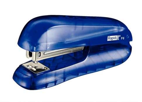 Sešívačka Rapid F6 - transparentní, modrá