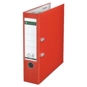 Pákový pořadač LEITZ 180° - A4, plastový, hřbet 8 cm, světle červená