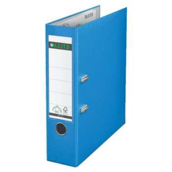 Pákový pořadač LEITZ 180° - A4, plastový, hřbet 8 cm, světle modrý
