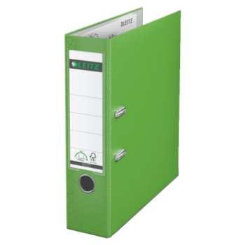 Pákový pořadač LEITZ 180° - A4, plastový, hřbet 8 cm, světle zelený