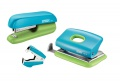 Sada sešívačky, děrovačky a rozešívačky Rapid - modrá/zelená