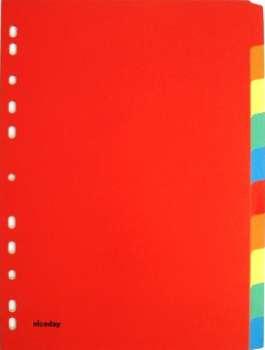 Rozlišovač Office Depot A4, barevný s výkroji, 10 listů