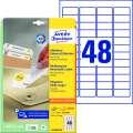 Snímatelné etikety Avery Zweckform - bílé, 45,7 x 21,2 mm, 1 440 ks