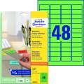 Samolepicí snímatelné etikety Avery Zweckform - zelená, 45,7 x 21,2 mm, 960 ks
