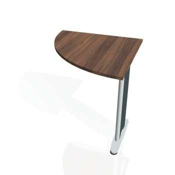 Přídavný stůl Hobis CROSS CP 901 levý, ořech/kov