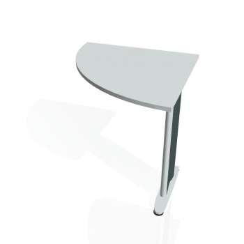 Přídavný stůl Hobis CROSS CP 901 levý, šedá/kov