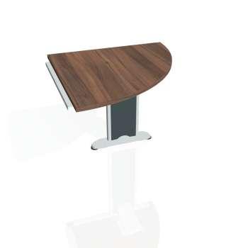 Přídavný stůl Hobis CROSS CP 901 pravý, ořech/kov