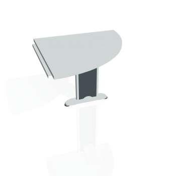 Přídavný stůl Hobis CROSS CP 901 pravý, šedá/kov