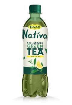 Ledový čaj Nativa - zelený s citronem, 12 x 0,5 l