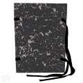 Spisové desky s tkanicí HIT Office - A4, černý mramor, 25 ks