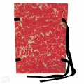 Spisové desky s tkanicí HIT Office - A4, červený mramor, 25 ks