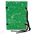 Spisové desky s tkanicí HIT Office - A4, zelený mramor, 25 ks