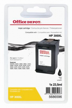 Cartridge Office Depot HP CC641EE/300 XL - černá