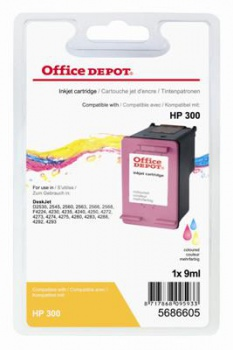 Cartridge Office Depot HP CC643EE/300 - tříbarevná