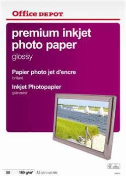 Fotopapír Office Depot, A3, 180 g/m2, lesklý