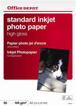 Fotopapír Office Depot, A4, 145 g/m2, vysoce lesklý