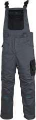 Montérkové kalhoty s laclem  4TECH 03 šedo-černé vel. 54