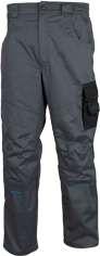 Pracovní kalhoty pas  4TECH 02 šedo-černé vel. 54