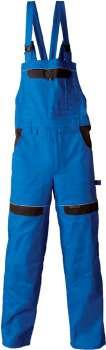 Pracovní kalhoty s laclem Cool Trend - modré, velikost 56