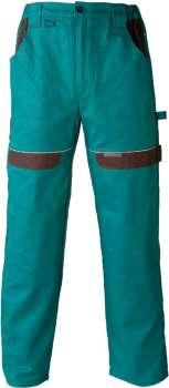 Pracovní kalhoty pas COOL TREND 202 zelené, vel. 52