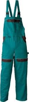 Pracovní kalhoty s laclem Cool Trend - zelené, velikost 54