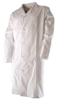 Pánský bavlněný  plášť  ERIK bílý vel. 50