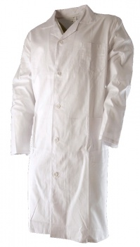 Plášť pánský dlouhý rukáv, bílý, vel. 54