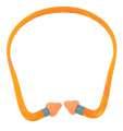 Přizpůsobivé špunty do uší s obloukem QB2HYG