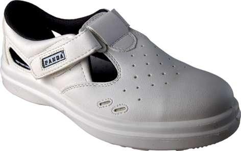 Pracovní sandály Panda, bílé, vel. 45