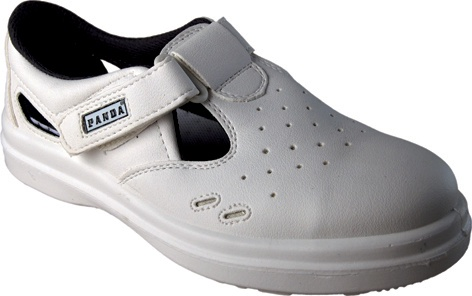 Sandály pracovní Panda, bílé, vel. 45