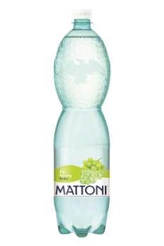 Ochucená minerální voda Mattoni - Bílé hrozny, 6 x 1,5 l, perlivá