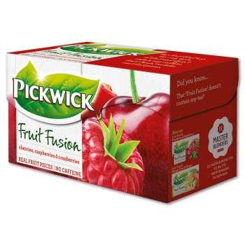 Ovocný čaj Pickwick - třešně s malinami a brusinkami, 20 x 2 g