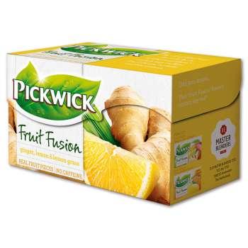 Ovocný čaj Pickwick - zázvor, citron a citronová tráva, 20x 2 g