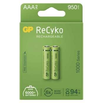Baterie nabíjecí GP NiMH, 1,2 V /1000 mAh, typ AAA, 2 ks