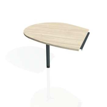 Přídavný stůl Hobis CROSS CP 20 levý, akát/kov
