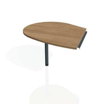 Přídavný stůl Hobis CROSS CP 20 levý, višeň/kov