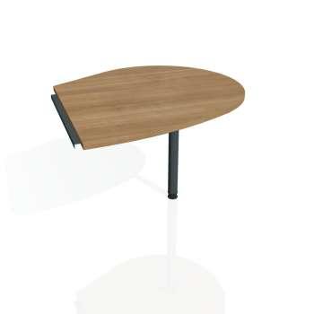 Přídavný stůl Hobis CROSS CP 20 pravý, višeň/kov