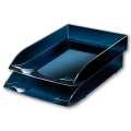 Zásuvka Office Depot Midnight Blue - A4, plastová, transparentní tmavě modrá
