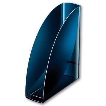 Stojan Office Depot Midnight Blue - A4, plastový, transparentní tmavě modrá