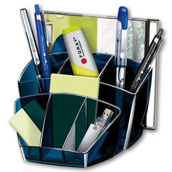Stolní organizér Office Depot Midnight Blue - plastový, transparentní tmavě modrá