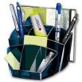 Stolní organizér Office Depot Midnight Blue - plastový, transparentní tmavě modrý