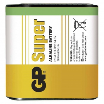 Baterie GP Super Alkaline 4,5V (plochá baterie), 1 ks