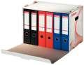 Archivační krabice na pořadače Esselte - stohovatelná, 52,5 x 33,8 x 30,6 cm, bílá