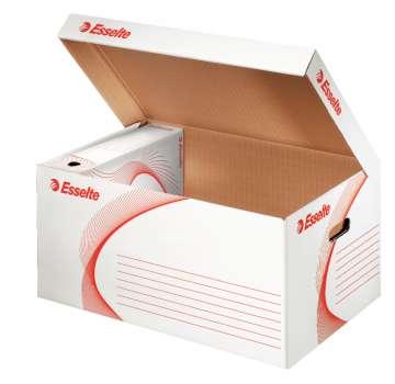Archivační kontejner Esselte s víkem - velká, 56 x 27,5 x 37 cm, bílá