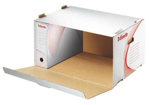 Archivační krabice Esselte - stohovatelná, velká, 51,5 x 27,5 x 36,5 cm, bílá