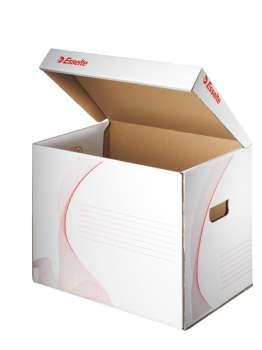 Archivační krabice Esselte s víkem - malá, 37,5 x 26,7 x 29,7 cm, bílá