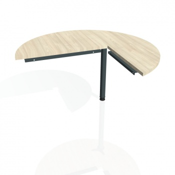 Přídavný stůl Hobis CROSS CP 22 levý, akát/kov